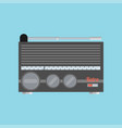 flat radio icon vector image