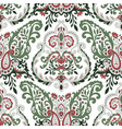 floral leaves and spring branches seamless pattern vector image vector image