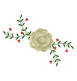floral ornament with a rose vector image vector image