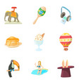 focus icons set cartoon style vector image vector image