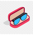 glasses in box isometric icon vector image vector image