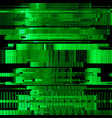 Glitch green abstract background