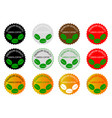green coffee - sticker or label vector image vector image