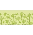 green palm trees horizontal seamless pattern vector image vector image