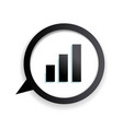 growth on a dioragram icon vector image vector image