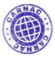 grunge textured carnac stamp seal vector image vector image