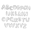 Hand drawn alphabet set Letters vector image vector image