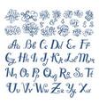 hand drawn sketch of prepositions words in vector image vector image