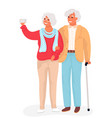 happy grandparents flat cartoon vector image