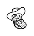 head cowboy or organic grain farmer with full vector image vector image