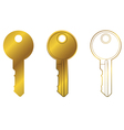 house key one vector image vector image