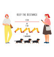 info banner keep distance vector image