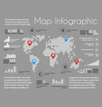infographics of map scheme vector image vector image