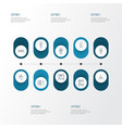interior icons line style set with sink couch vector image vector image