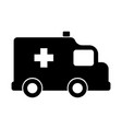 isolated ambulance icon vector image vector image