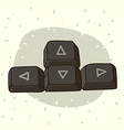 Keyboard buttons with arrows vector image
