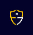 letter fg shield residential business logo design vector image vector image