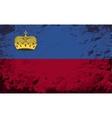 Liechtenstein flag Grunge background vector image vector image