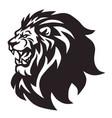lion head roaring logo mascot cartoon vector image vector image