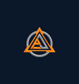 logo letter a with triangle sport style vector image vector image