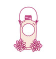mason glass with wire handle and flowers vector image vector image