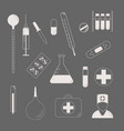 medical character set lat design style medical vector image