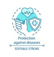 medical protection against diseases concept icon vector image vector image
