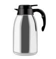 metallic coffee thermos in side view vector image vector image
