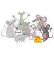 mice animal characters cartoon vector image vector image