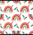 modern rainbow pattern doodle rainbow background vector image vector image