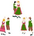 oktoberfest bavarian dancing couple vector image vector image