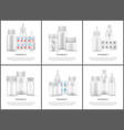 pharmacy and medicines means bright posters vector image