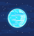 planet uranus in space in flat style vector image
