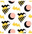retro memphis seamless pattern vector image
