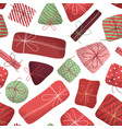 seamless pattern of christmas gifts vector image vector image