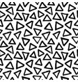 seamless pattern with hand drawn triangles vector image vector image
