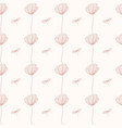 seamless pattern with poppy flower repeated vector image