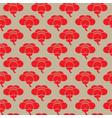 seamless sakura flower pattern vector image vector image