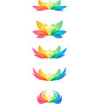 set flower head vector image vector image