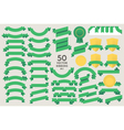 Set of 50 Ribbons vector image vector image