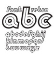 set of cursive retro lower case english alphabet vector image vector image