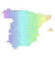 spectrum cirle dot spain map vector image vector image
