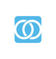 square box shape style modern icon logo vector image