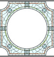 stained-glass window frame for photography vector image vector image