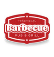 traditional barbecue pub and grill sign vector image vector image