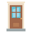 traditional house door design vector image