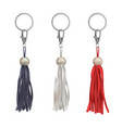 trinkets with leather tassel for handbag vector image