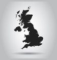 united kingdom map black icon on white background vector image