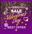 valentine s day 14 february sale best offer vector image
