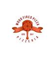 vintage wood fired pizza logo designs inspiration vector image